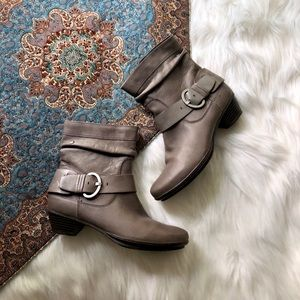 pikolinos slouchy leather boots gray heeled fall